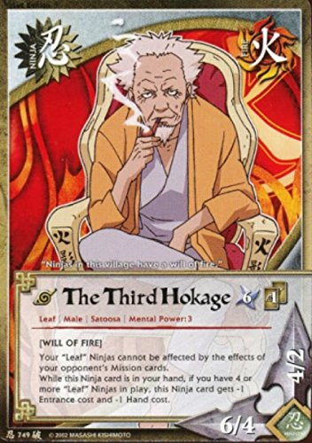 (Naruto Card - The Third Hokage 749 - Broken Promise - Common - 1st Edition)
