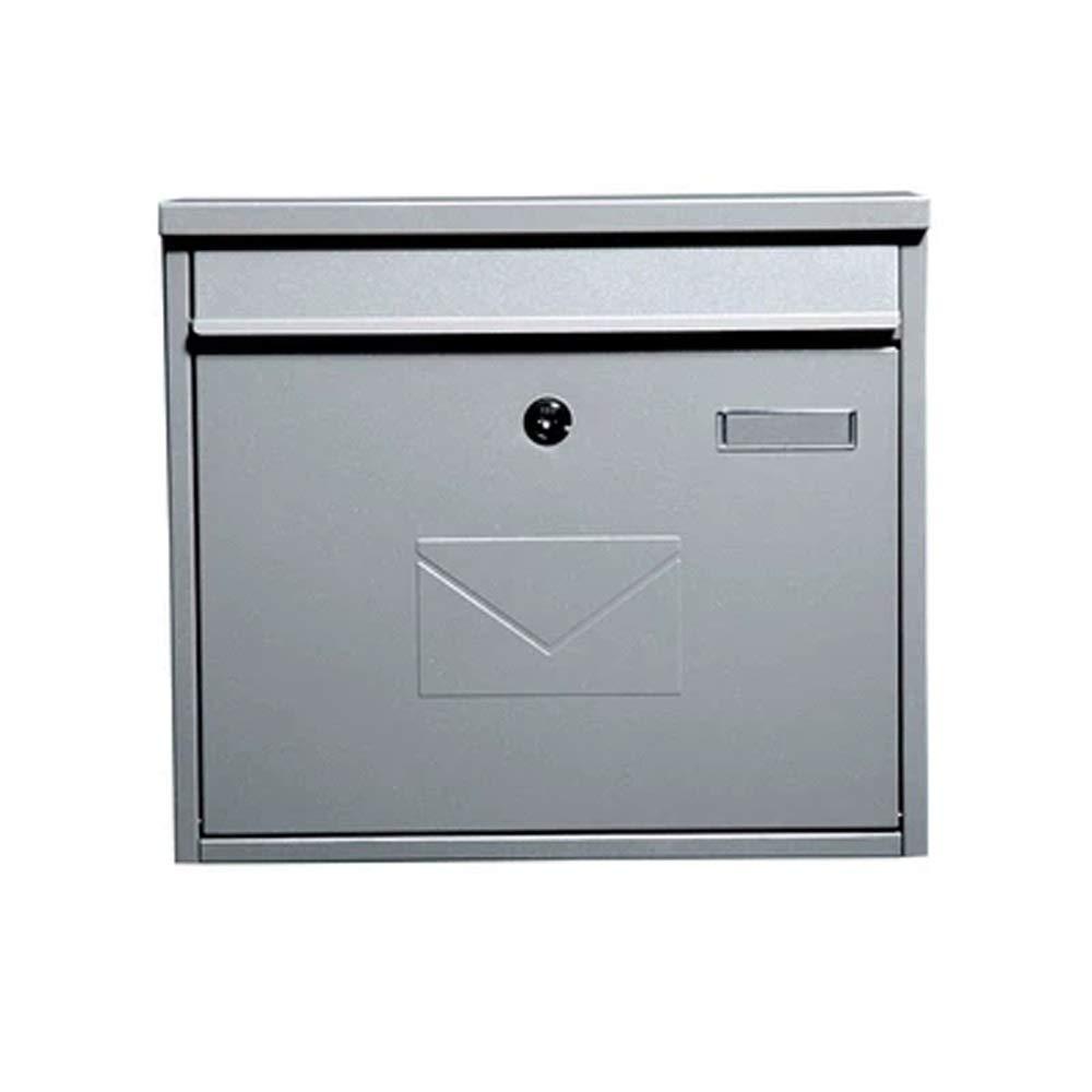 XJZxX ポストボックスヴィラレターボックス屋外インボックス屋外ボックスロック付き提案ボックス錆メールボックス   B07TCHY6NB