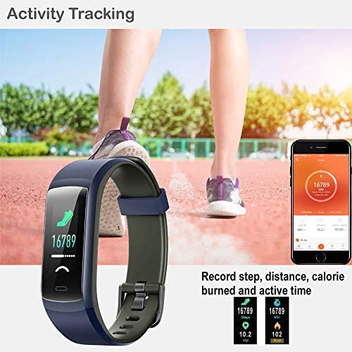 Willful Fitness Tracker, Heart Rate Monitor Activity Tracker Pedometer with Step Counter Sleep Monitor 14 Sports Tracking,Color Screen IP68 Waterproof,Fitness Watch for Men Women Kids 4