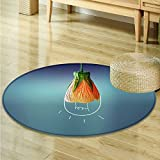 Non Slip Round Rugs Creative lamp Oriental Floor and Carpets -Round 51''