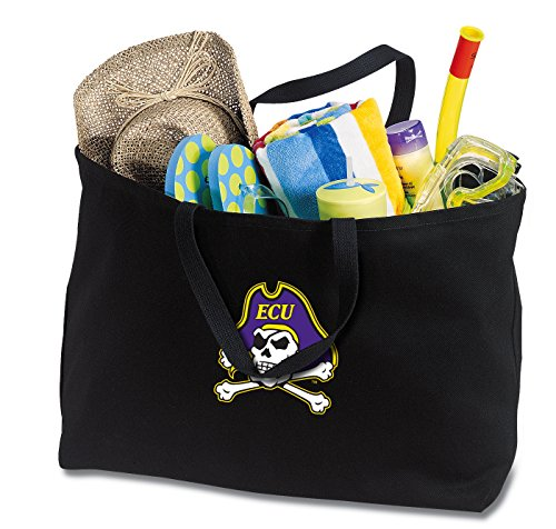 Broad Bay JUMBO ECU Tote Bag or Large Canvas East Carolina University Shopping Bag by Broad Bay