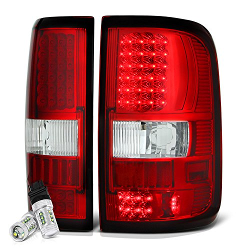 Cree Led Reverse Bulbs Vipmotoz Led Tail Light Lamp Assembly For 2004 2008 Ford F 150 Rosso Red Lens Driver And Passenger Side
