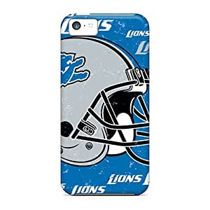 Hot Snap-on Detroit Lions Hard Cover Case/ Protective Case For Iphone 5c