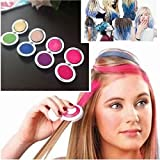Fulla2116 Set of 4 Colors New Kids Girls Women Bright Patry Colours Temporary Dye Hair Chalk Powder