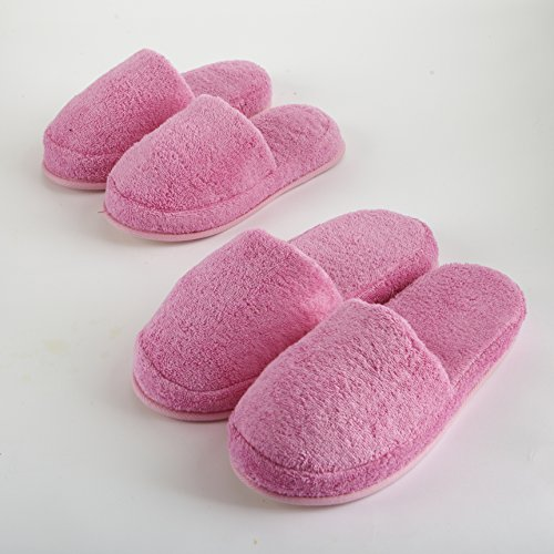 100 Terry Cotton Luxury Slippers White Spa Large in Pink Turkishtowels 5a4Pwna