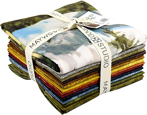 Tom Browning High Country Crossing 14 Fat Quarters 1 Panel Maywood Studio ()