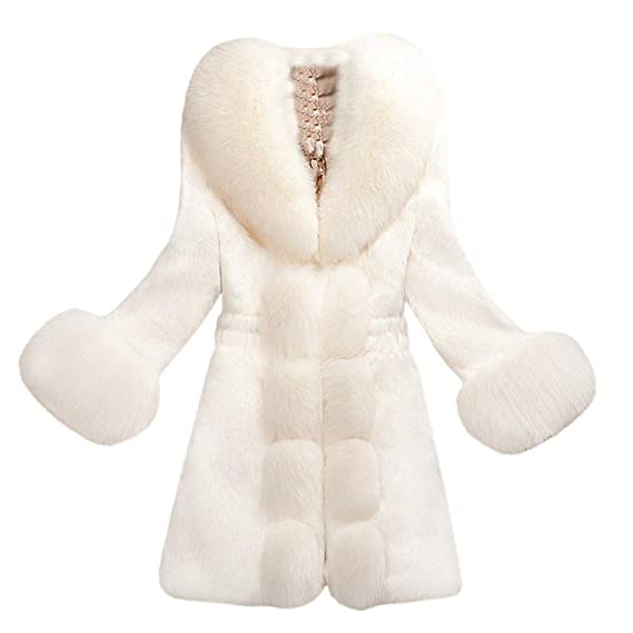 ❤️Jonerytime❤️Women Faux Fur Coat Elegant Thick Warm Fashion Outerwear Long Fake Fur Jacket at Amazon Womens Clothing store: