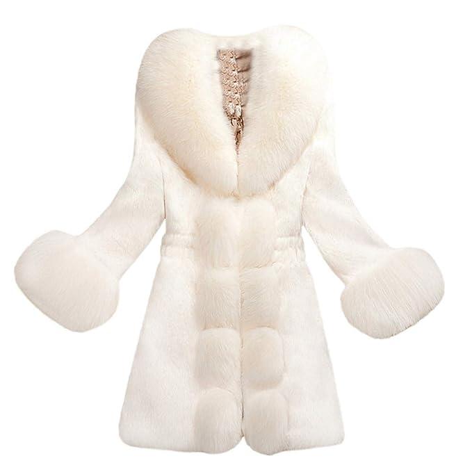 ❤️Jonerytime❤️Women Faux Fur Coat Elegant Thick Warm Fashion Outerwear Long Fake Fur Jacket at Amazon Womens Clothing store: