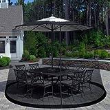 Pure Garden Outdoor Umbrella Screen, Black