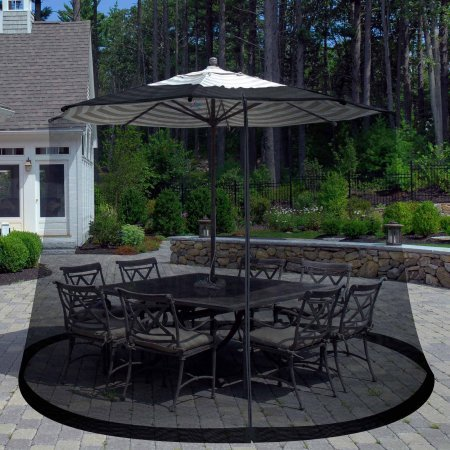 Pure Garden Outdoor Umbrella Screen, Black by Pure Garden
