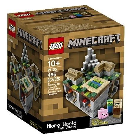 Amazon.com: LEGO Minecraft Micro World The Village 21105 ...