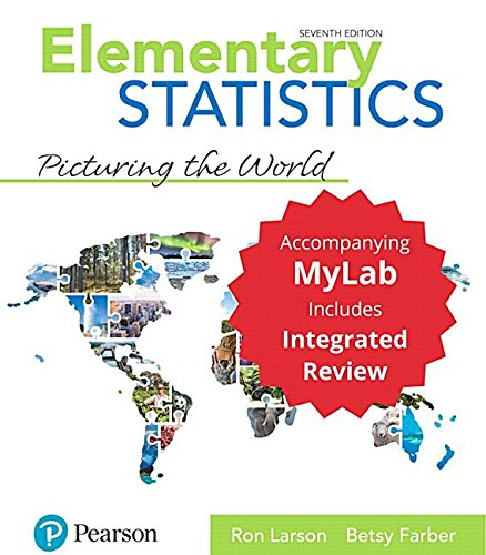 elementary statistics picturing the world 6th edition pdf