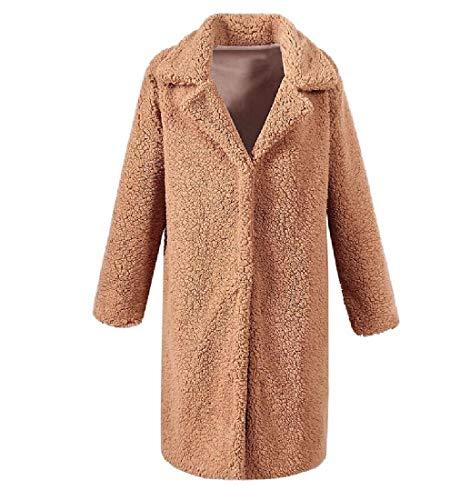 Mogogo Women's Fall Winter Turn-Down Collar Leisure Big Pockets Outwear AS2
