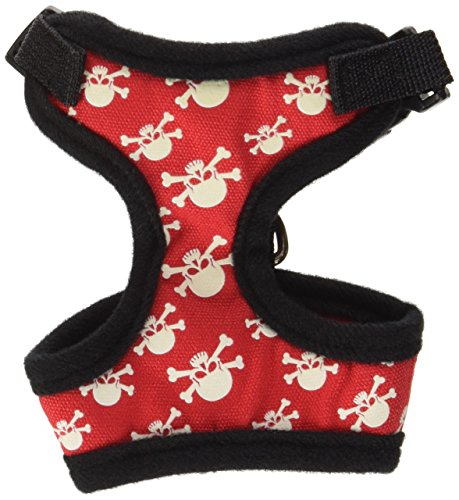 ter Crossbone Dog Harness, X-Small, Red ()