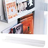 Denver Modern Floating Wall Ledge Shelf for Pictures and Frames 22 Inches Long , White