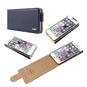 Calidad original Iphone 6 más (5,5 pulgadas) Azul marino tirón del cuero de la cubierta del estuche con dos ranura para tarjeta para Apple Iphone 6 más (5,5 pulgadas)