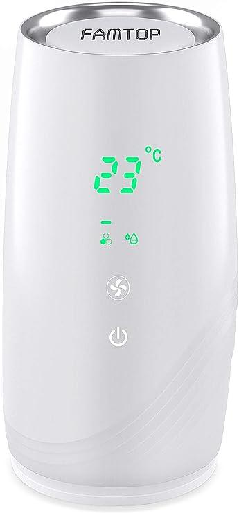 FAMTOP Purificador de Aire Portátile para Hogar Oficina 3 en 1 Filtro HEPA Carbón Activado, Purificadores de Escritorio USB Mini con Indicador de Calidad del Aire, Eliminar 99.97% Polvo, Humo, Olores: Amazon.es: Hogar