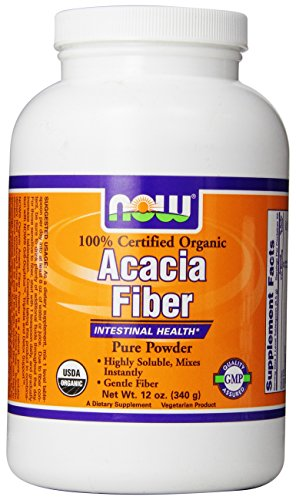 Now Foods Fiber Powder, Organic Acacia, 12-Ounce