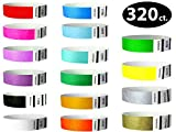 Goldistock 3/4'' Tyvek Wristbands The Ultimate Variety Pack 16 Colors - 320 Ct.- Green, Blue, Red, Orange, Yellow, Pink, Purple, Gold , Silver, Aqua, White, Black, Evergreen, Berry, Sky Blue, Sunrise