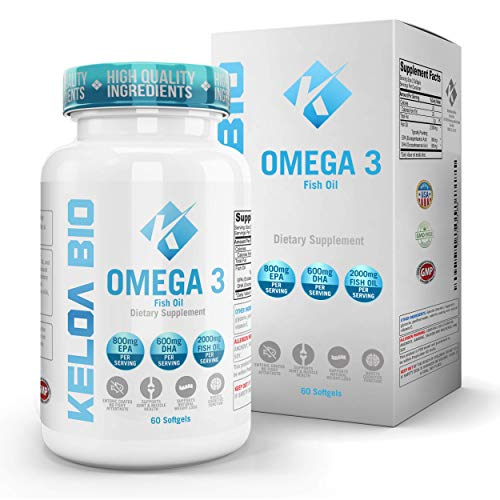 Premium Omega 3 Fish Oil Supplements 2000 mg Serving Softgel