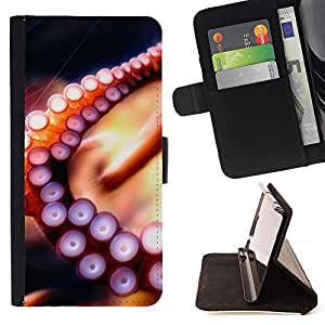 For LG Volt 2 / LG G4 Mini (G4c) - Octopus Tentacle /Leather Foilo Wallet Cover Case with Magnetic Closure/ - Super Marley Shop -