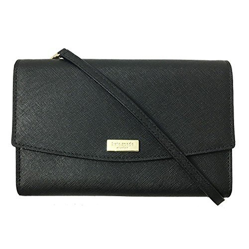 Kate Spade New York Laurel Way Winni Saffiano Leather Crossbody Purse (Black)