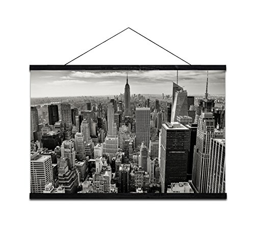 Modern Black And White New York City Canvas Painting Wall Art Large Size Cityscape Giclee Print For Home Office Hotel Decoration Paintings 47X31 5Inch