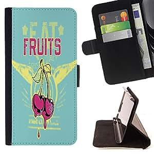 Jordan Colourful Shop - FOR Samsung Galaxy S5 Mini, SM-G800 - Ripe cherry - Leather Case Absorci¨®n cubierta de la caja de alto impacto