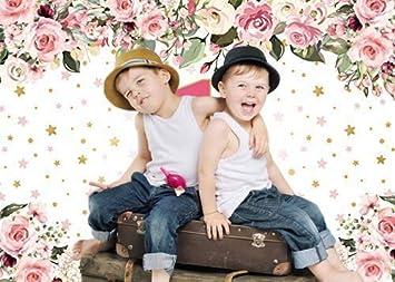 AIIKES 7x5FT Baby Geburtstag Hintergrund Flammpunkt Hintergrund M/ädchen Geburtstagsfeier Dekoration Banner Fotokabine 11-536