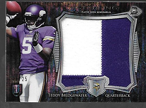 Teddy Topps (TEDDY BRIDGEWATER 2014 Topps Sterling RC jumbo patch /25 2 colors)