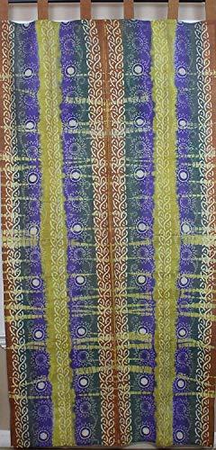 Celtic Batik Tie Dye Tab Top Curtain Panel-44 x ()