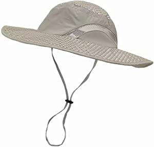 LETHMIK Sunscreen Cooling Hat, Heatstroke Protection Cap, Mens & Womens Wide Brim Boonie Hat for Fishing, Hiking, Camping, Gardening, Beach