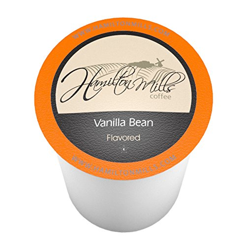 Hamilton Mills Vanilla Bean Coffee Pods, 2.0 Keurig K-Cup Brewer Compatible, 40 Count ()