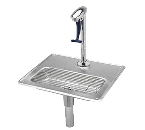 T S Brass B-1230 Water Station Pedestal Glass Filler and Drip Pan