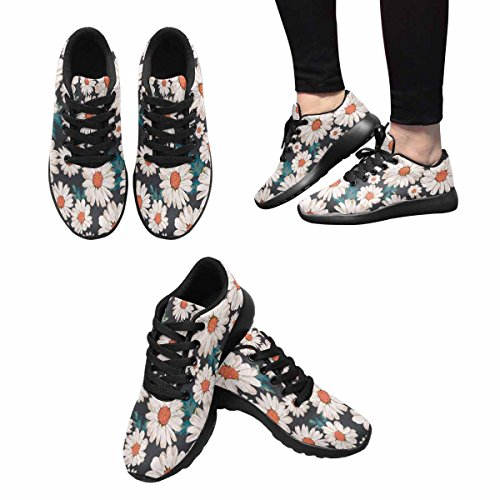 Interessante Womens Jogging Running Sneaker Leggero Go Easy Walking Comfort Sport Scarpe Da Corsa Fiore In Fiore, Motivo Stampa Margherita Multi 1