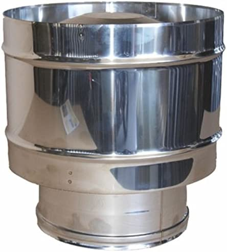 MISTERMOBY 250 MM STAINLESS STEEL CERTIFIED ROOF COWL ANTI-DOWNDRAUGHT HAT FLUE FEMALE