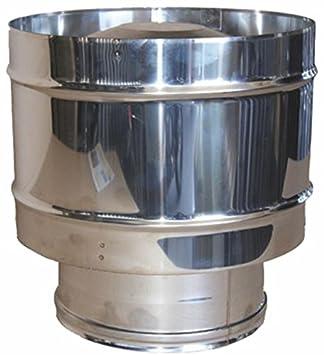 MISTERMOBY SOMBRERETE ANTIRREVOCO CERTIFICADO ACERO INOX TUBOS DE CHIMENEA 200 MM HEMBRA