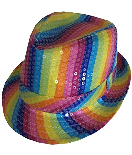 Rainbow Rainbow amp; Ladies amp;Ayat Colour Fancy Trilby Mens Fashions Momo Pride Multi Costume Hat Mix Pick Dress wApnq6II