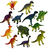 Oldeagle 12PCs Educational Dinosaur Toy Kids Toddler Realistic Toy Dinosaur for Kids Gift