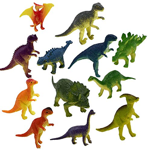 Myoumobi 12Pcs Dinosaurs Toy Educational Realistic Dinosaur Figures for 3+Years Boys Girls Science Toy Collectors Gift Plastic Toy Fun Gift Party -