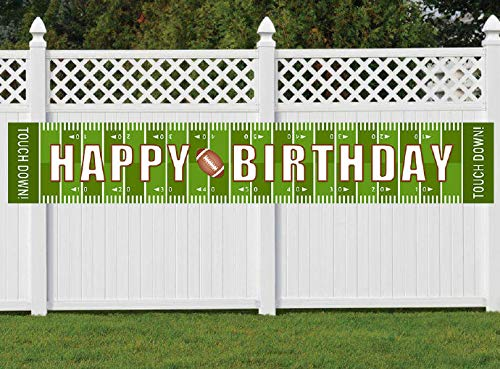 Large Football Birthday Banner, Football Happy Birthday Party Decorations, Football Party Supplies]()
