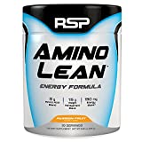 RSP AminoLean - Energy & Weight Loss Formula, BCAA Powder with CLA, Green Tea Extract and Caffeine for Building Lean Muscle and Burning Fat, Passion Fruit, 30 Servings