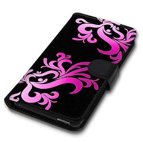 Wallet Book Style Flip Handy Tasche Case Schutz Hülle Schale Motiv Etui für Apple iPhone 4 / 4S - Design Flip MVD276