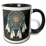 3dRose 3dRose Designer One of A Kind Native American Art - Two Tone Black Mug, 11oz (mug_108095_4), , Black/White