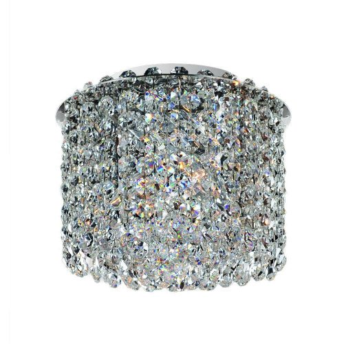- Allegri Lighting 11662-010-FR001 Millieu-Metro 2-Light Flush Mount with Clear Firenze Crystal, Chrome Finish