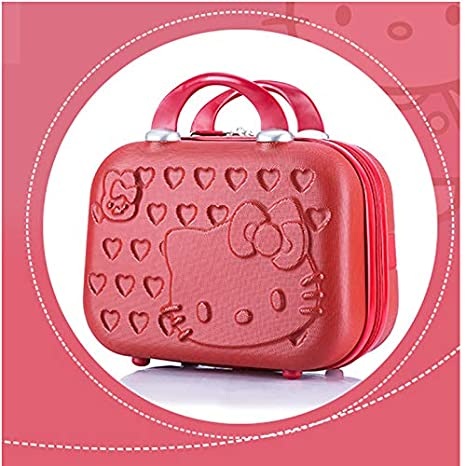 Travel Suitcase Kids Suitcase Cartoon Cute Suitcase Kids Trolley Case Castor Rose Red