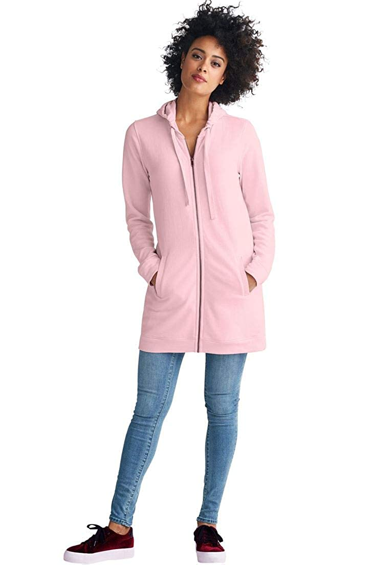 4621261619a Ellos Women s Plus Size Zip Front Hoodie at Amazon Women s Clothing store