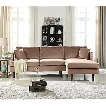Amazon.com: Modern Large Velvet Fabric U-Shape Sectional ...