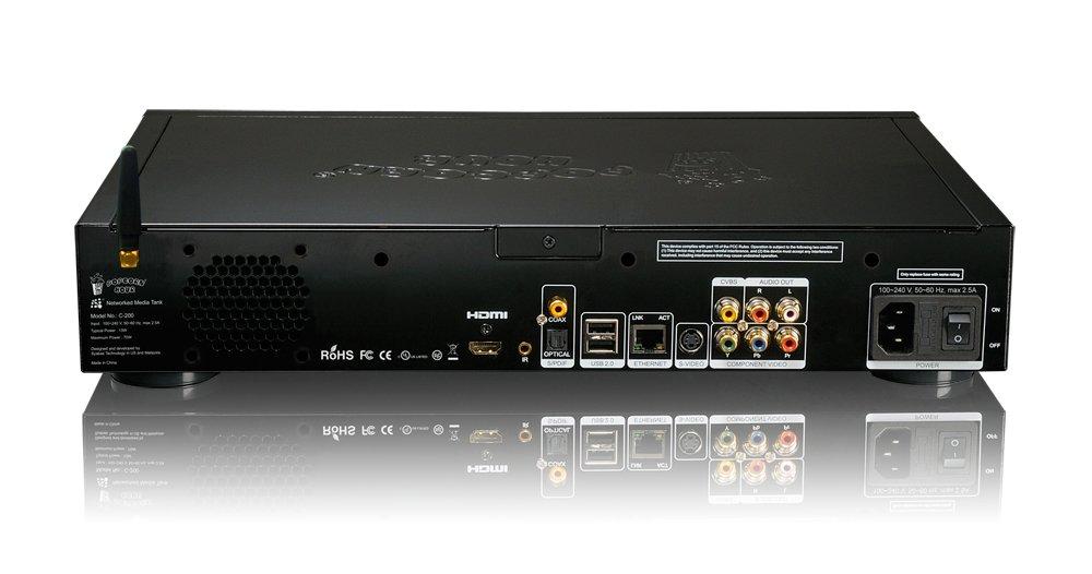 Popcorn Hour C-200 Negro reproductor multimedia y grabador de sonido: Amazon.es: Electrónica
