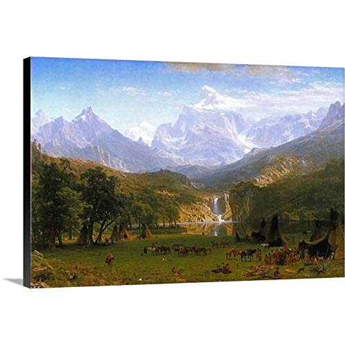 GREATBIGCANVAS Gallery-Wrapped Canvas Entitled The Rocky Mountains, Lander's Peak by Albert (1830-1902) Bierstadt 18